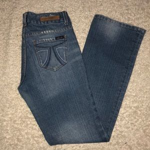 Seven 7 Jeans Stretch Bootcut Distressed Size 4